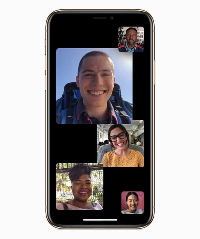 iOS 12.1 face time