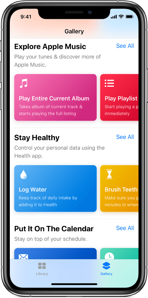 Shortcuts app