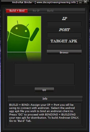 AndroRAT Hacking Apps for Android Phones