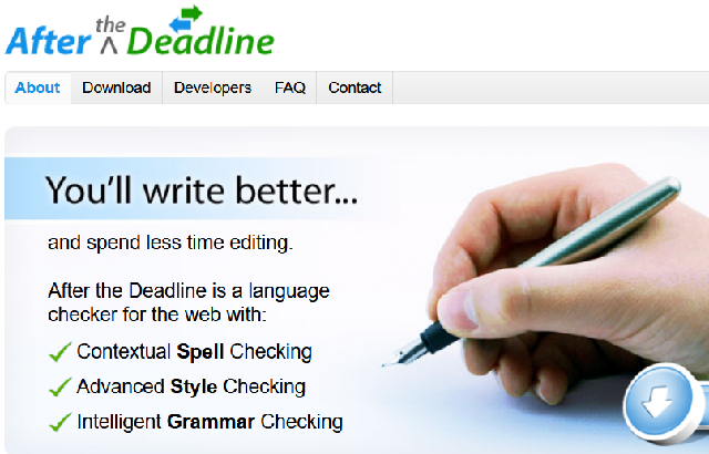 Grammarly Alternative after the deadline