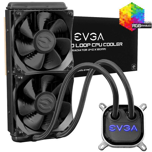 EVGA CLC 240mm RGB LED Liquid CPU Cooler